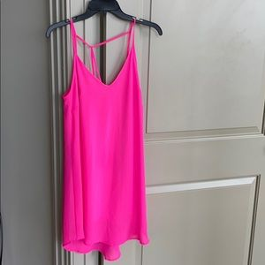Lush Strappy Hot Pink Dress